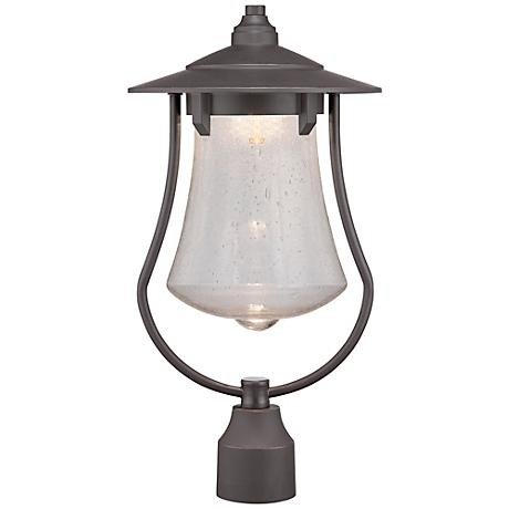 "Paxton 19 1/4"" High Bronze Patina LED Outdoor Post Light"