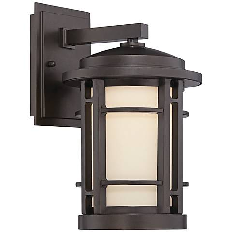 "Barrister 11 1/2"" High Bronze LED Outdoor Wall Light"