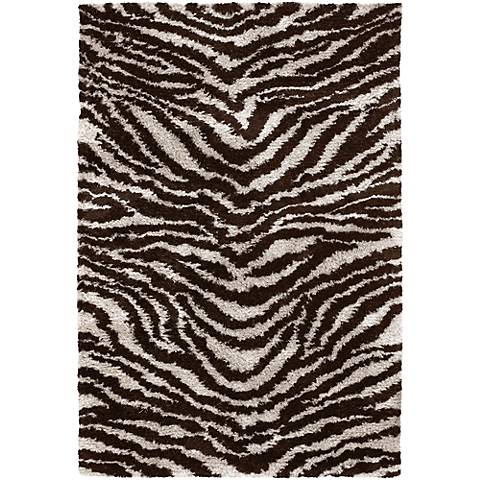 Chandra Amazon AMA5604 White and Brown Area Rug