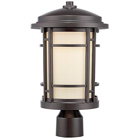 "Barrister 15"" High Burnished Bronze LED Outdoor Post Light"