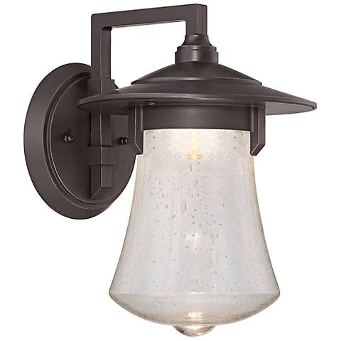 "Paxton 13 3/4"" High Bronze Patina LED Outdoor Wall Light"