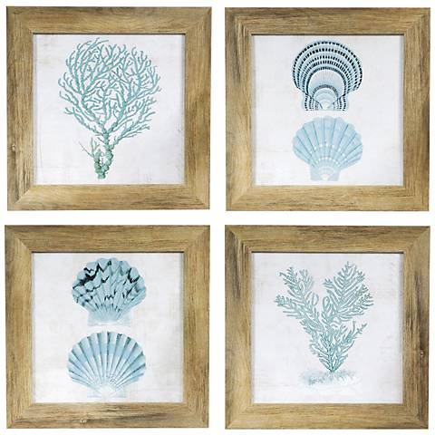 "Under The Sea 4-Piece 15"" Square Wall Art Set"