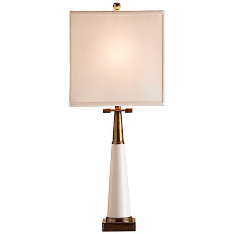 Currey and Company Signature White Porcelain Table Lamp