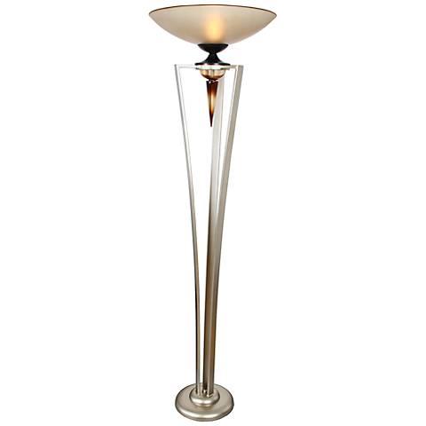 Van Teal Secret Love Silver Jacobean Torchiere Floor Lamp