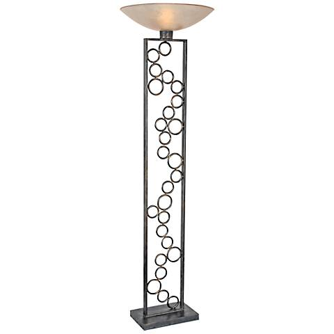 Van Teal Organization Bronze Torchiere Floor Lamp