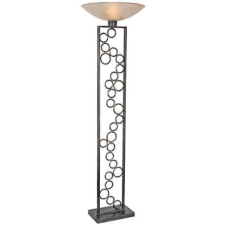 Van Teal Organization Bronze Torchiere Floor Lamp