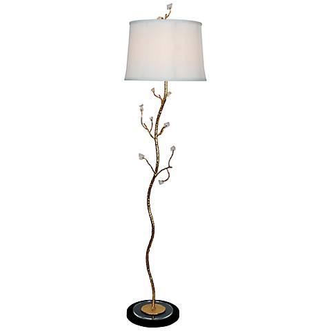 Van Teal Shivery Gold Leaf Floor Lamp