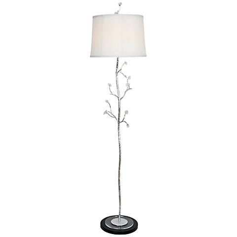 Van Teal Frigid Silver Leaf Floor Lamp