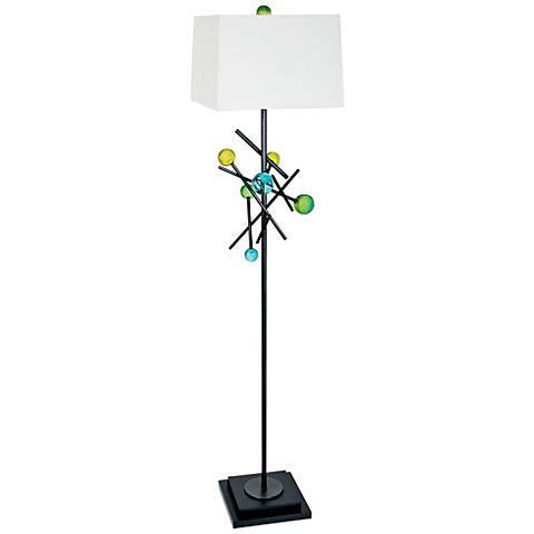 Van Teal Effort Weathered Steel Floor Lamp