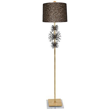 Van Teal Rupture Gold Leaf Floor Lamp