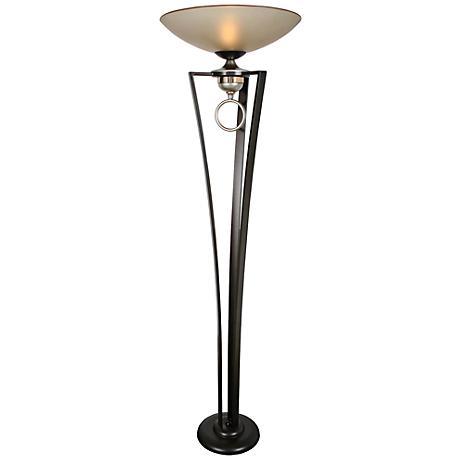 Van Teal In Love Jacobean Silver Torchiere Floor Lamp