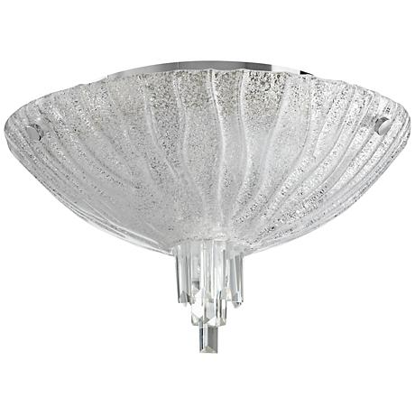 """Frosted Glow 17 1/2"""" Wide Clear Glass Ceiling Light"""