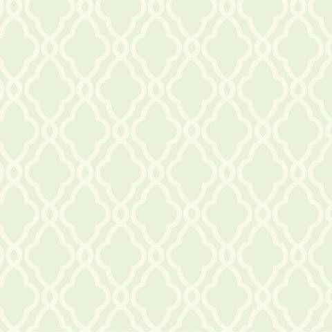 York Sure Strip Sea Foam Waverly Hampton Trellis Wallpaper