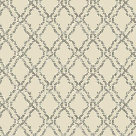 York Sure Strip Taupe Waverly Hampton Trellis Wallpaper