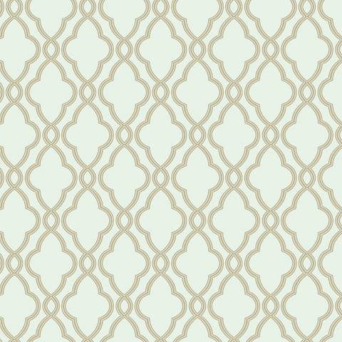 York Sure Strip Cocoa Waverly Hampton Trellis Wallpaper