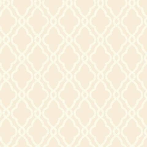 York Sure Strip Beige Waverly Hampton Trellis Wallpaper