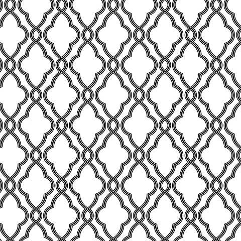 York Sure Strip Ebony Waverly Hampton Trellis Wallpaper
