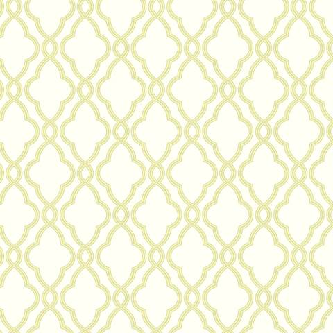 York Sure Strip Green Waverly Hampton Trellis Wallpaper