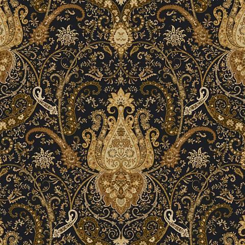 York Sure Strip Black Waverly Byzance Removable Wallpaper