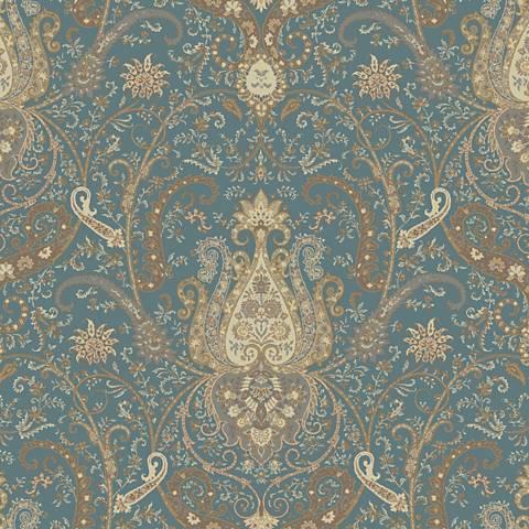 York Sure Strip Blue Waverly Byzance Removable Wallpaper