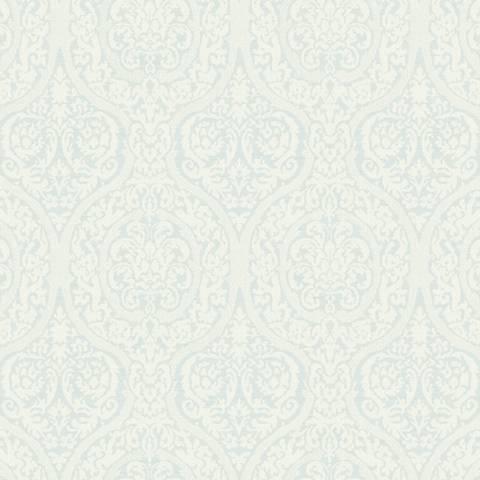 York Sure Strip Pale Blue Waverly Bright Idea Wallpaper