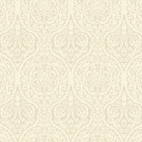 York Sure Strip Beige Waverly Bright Idea Wallpaper