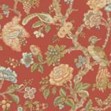 York Sure Strip Orange Waverly Casa Blanca Rose Wallpaper