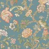 York Sure Strip Teal Waverly Casa Blanca Rose Wallpaper