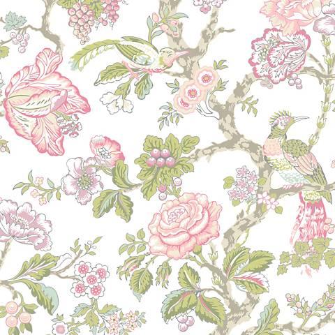 York Sure Strip Pink Waverly Casa Blanca Rose Wallpaper