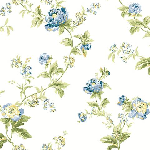 York Sure Strip Butter Waverly Forever Yours Trail Wallpaper