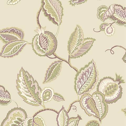 York Sure Strip Beige Waverly Fantasy Fleur Wallpaper