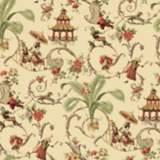 York Sure Strip Ecru Waverly Mandarin Prose Wallpaper