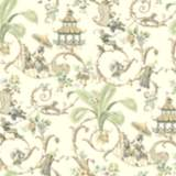 York Sure Strip Gray Waverly Mandarin Prose Wallpaper