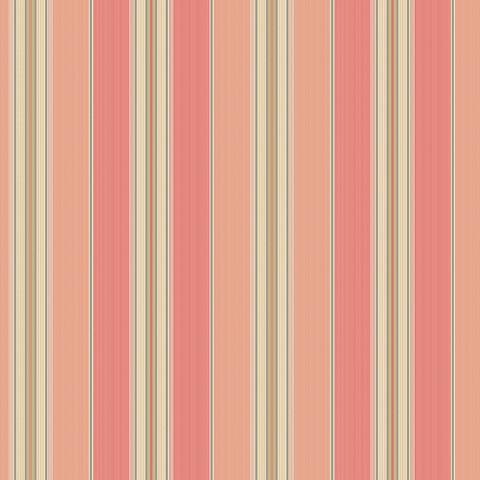 York Sure Strip Coral Waverly Lovers Lane Wallpaper