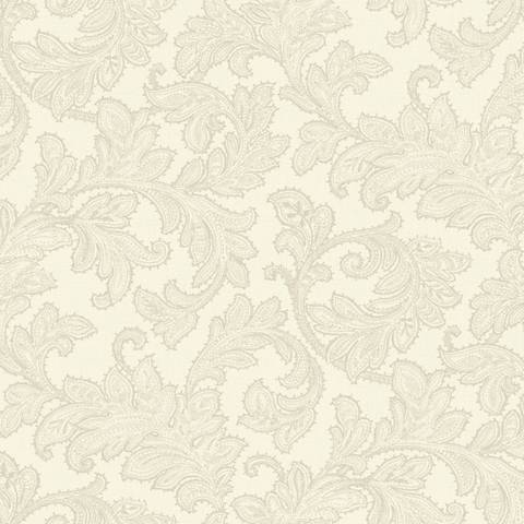York Sure Strip Cream Waverly Merletto Removable Wallpaper