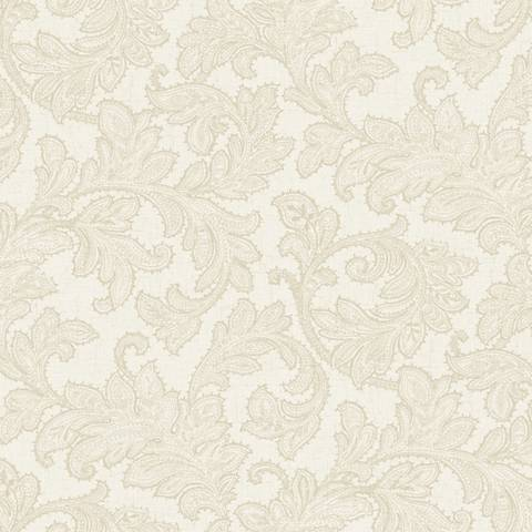 York Sure Strip Taupe Waverly Merletto Removable Wallpaper