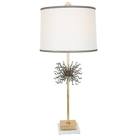 Van Teal Little Outburst Too Gold Leaf Table Lamp