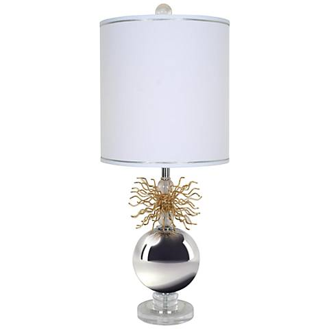 Van Teal Flare-Up Polished Chrome Table Lamp