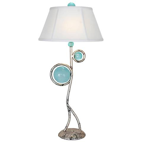 Van Teal Echo Ancient Silver Leaf Table Lamp