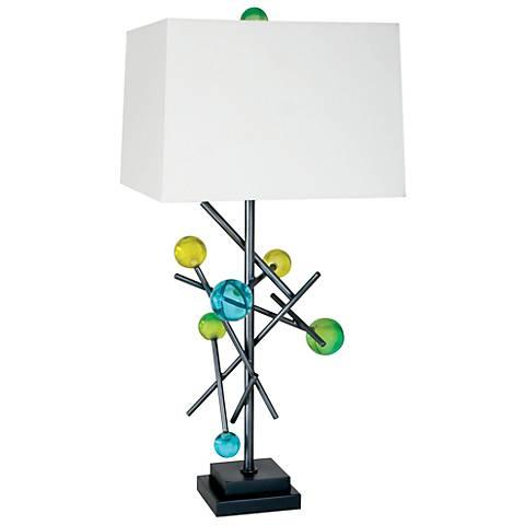 Van Teal Energy Multicolor Weathered Steel Table Lamp