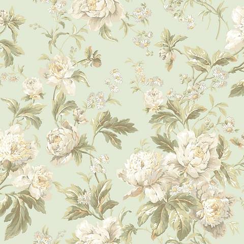 York Sure Strip Mint Waverly Forever Yours Wallpaper