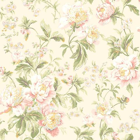 York Sure Strip Cream Waverly Forever Yours Wallpaper