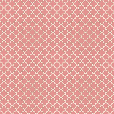 York Sure Strip Coral Waverly Framework Wallpaper