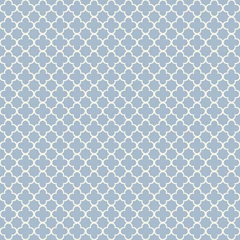 York Sure Strip True Blue Waverly Framework Wallpaper
