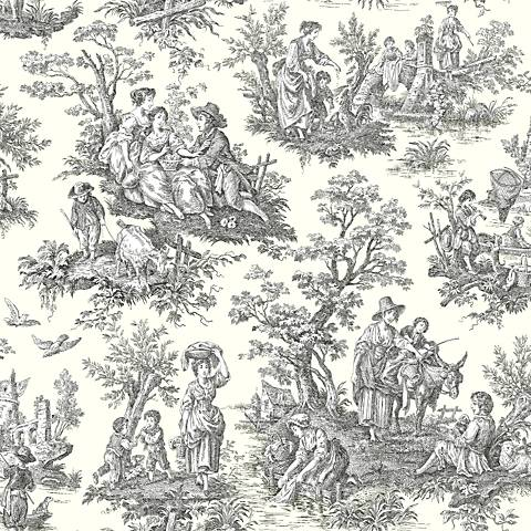 York Sure Strip White Waverly Country Life Wallpaper