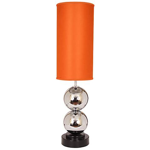 Van Teal Run Around Tall Carrot Velvet Table Lamp