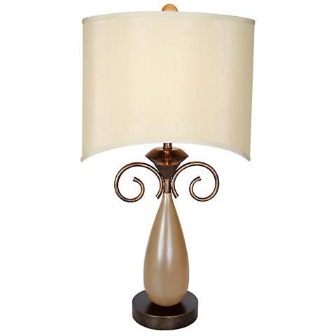 Van Teal Omar Ginger Acrylic Table Lamp