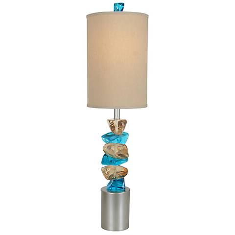 Van Teal Rocky Road Autumn Wood Silver Table Lamp