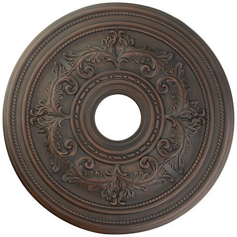"Pascola 22 1/2"" Wide Imperial Bronze Ceiling Medallion"