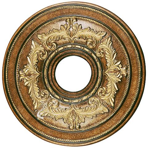 "Pascola 18"" Wide Venetian Patina Ceiling Medallion"